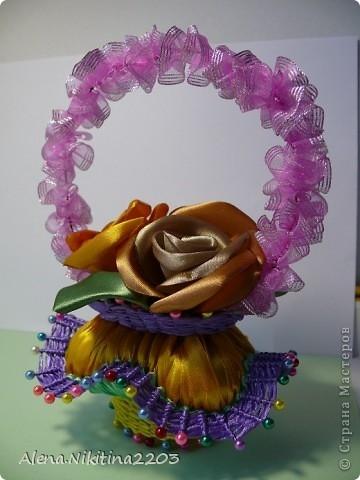 Цветочки из ленточек от Алены Никитиной (14) (360x480, 102Kb)