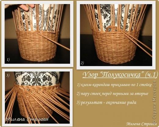 Кашпо для цветов плетение своими руками