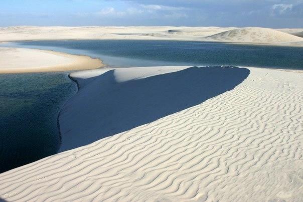 белые песок Ленсойc-Мараньенсес бразилия фото (604x403, 107Kb)