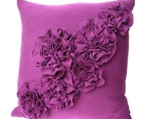 Подушки цветы своим рукам 56