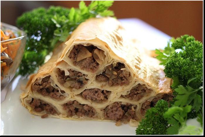 мясной пирог монастырская изба