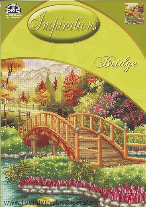 Мост, вышивка крестом,