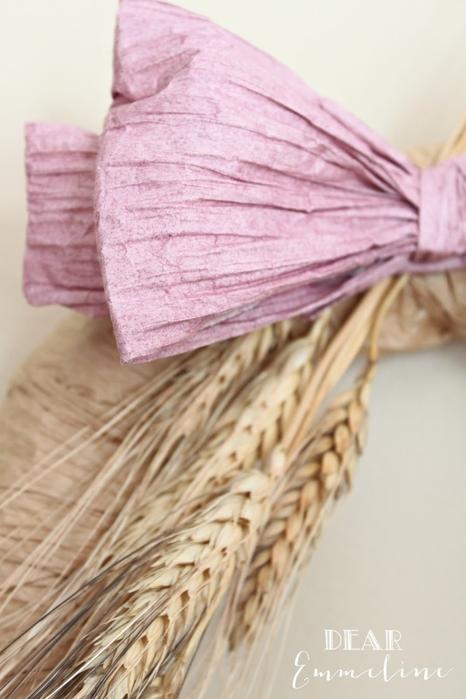 Стильный венок со стеблями пшеницы (8) (466x700, 196Kb)