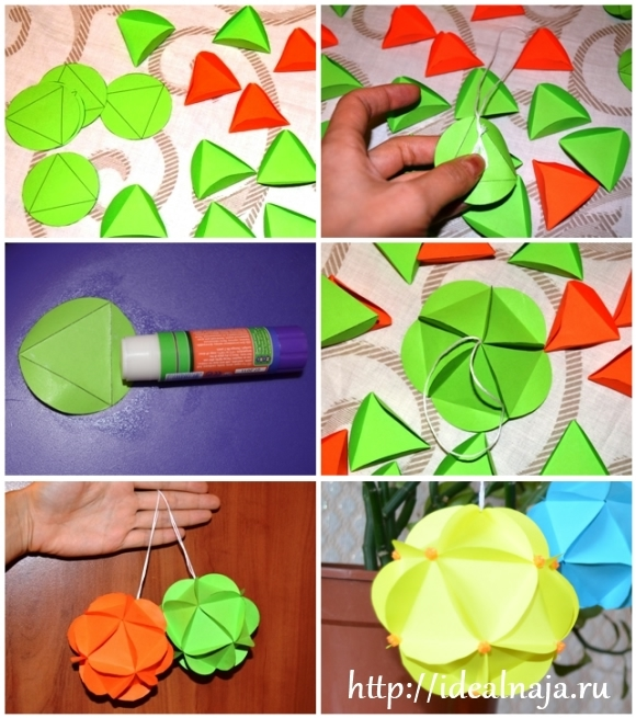 Как сделать шарик своими руками из бумаги