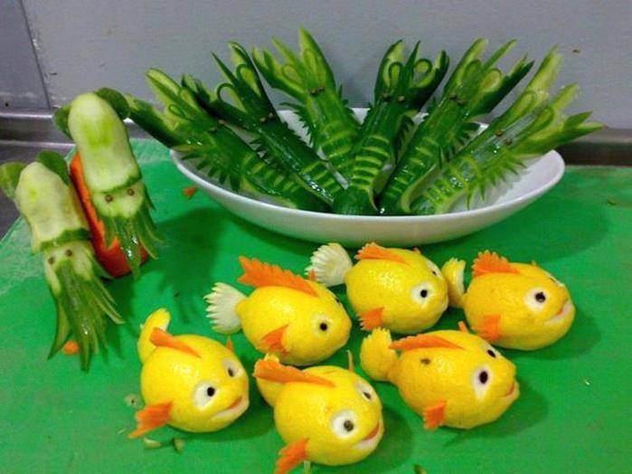 Работы из овощей и фруктов своими руками