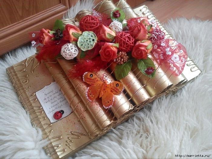 Как сделать декоративную книжку для подарка. Мастер-класс (27) (700x525, 285Kb)
