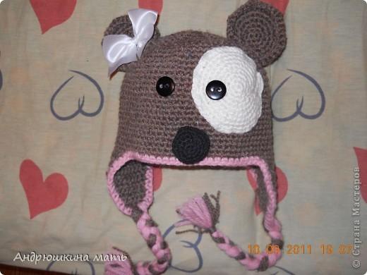 Детская шапка с ушками.