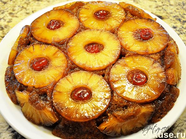 Сладкий пирог из консервированных ананасов. (600x450, 570Kb)