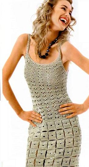 Вязаное крючком платье - схема