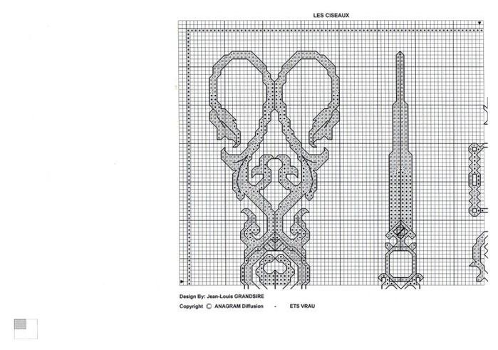 Схемы вышивки крестом ножниц