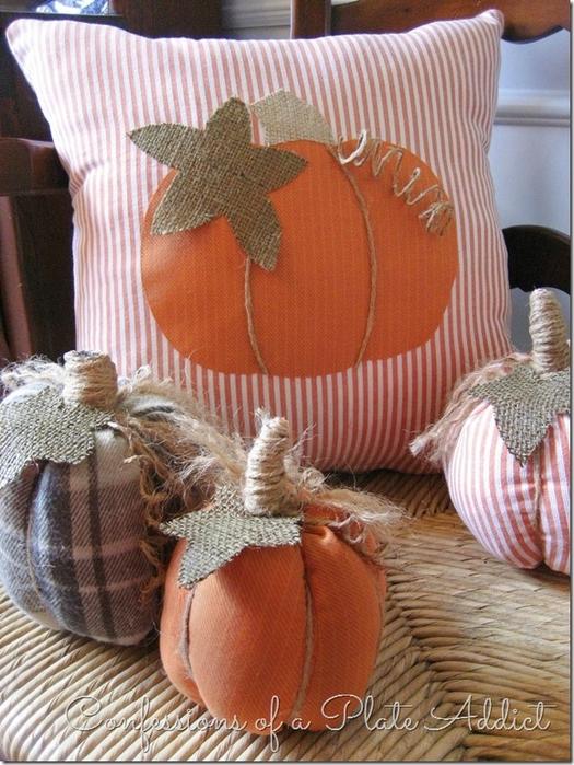 Текстильные тыквы и подушка с аппликацией для осеннего декора (9) (525x700, 314Kb)