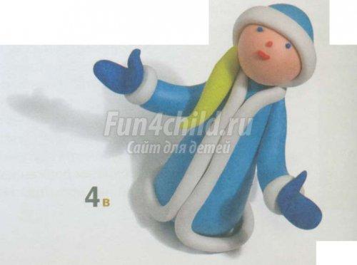 Новогодние поделки из пластилина. Снегурочка. Мастер-класс с пошаговыми фото