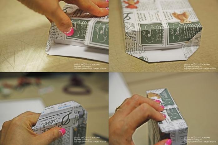 Как упаковать книжку или коробочку для подарка (9) (700x467, 392Kb)