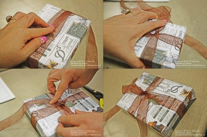 Как упаковать книжку или коробочку для подарка (12) (700x463, 503Kb)