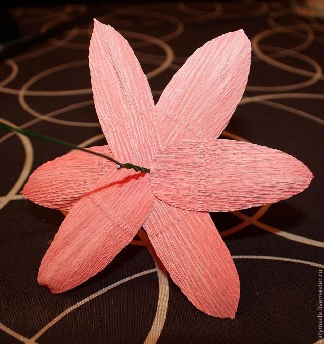 Как сделать лотос из гофрированной бумаги и конфеты.
