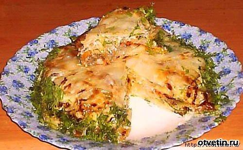 Наполеон со шпинатом, листьями черемши и капустой, пошаговый рецепт с фото