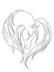 Превью horse_lineart_by_mariannamiledy-d3cygwz (526x700, 71Kb)
