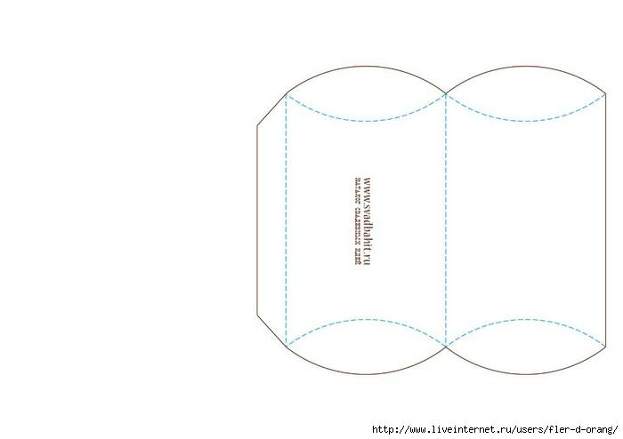 Коробочка для бонбоньерок своими руками шаблон