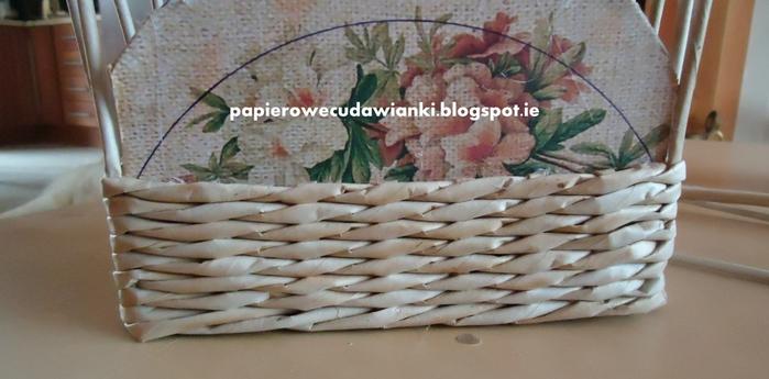 Плетение из газет. Шкатулка-сундучок из коробки. Мастер-класс (14) (700x345, 177Kb)