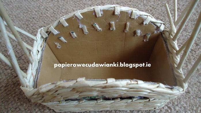 Плетение из газет. Шкатулка-сундучок из коробки. Мастер-класс (20) (700x393, 213Kb)