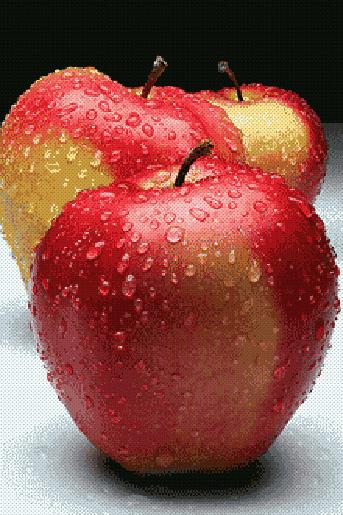 Яблоки.вышивка крестом