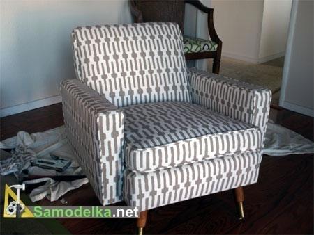 Как обновить старое кресло. Меняем обивку сами (4) (450x338, 85Kb)
