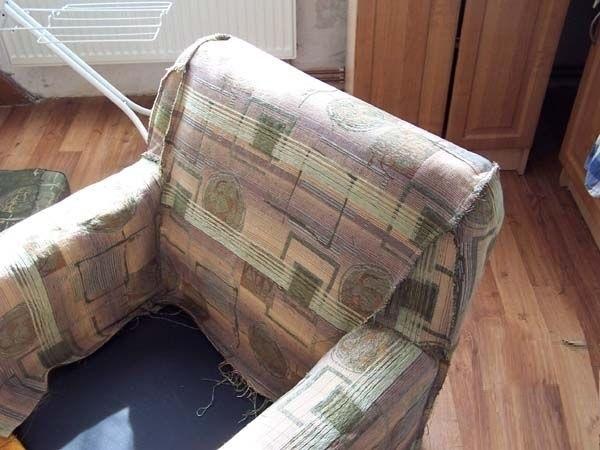 Как переделать старое кресло своими руками фото