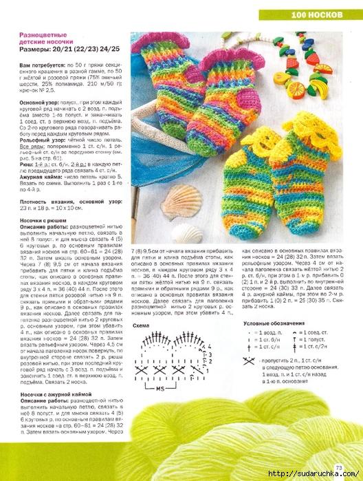 Вязания детских носков 30