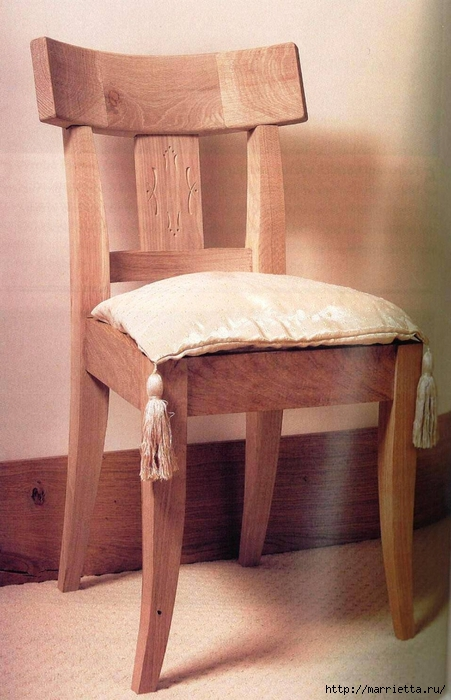 Элегантный дубовый стул своими руками (9) (451x700, 244Kb)