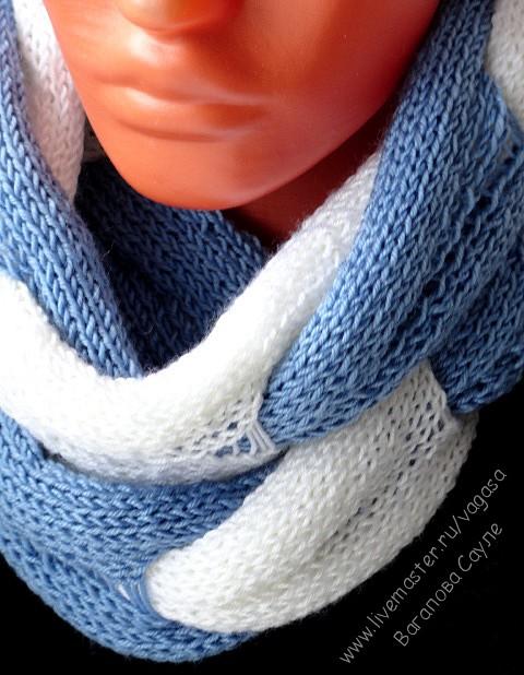 шарф вязаный женский