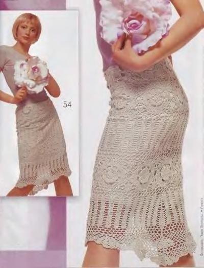 Вяжем стильные юбки