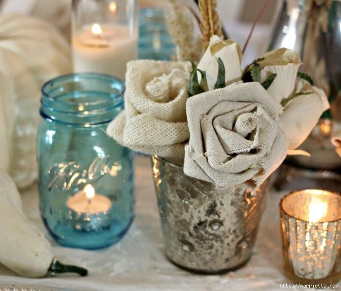 Розы из льна и мешковины. Видео и фото мастер-класс (21) (700x597, 280Kb)