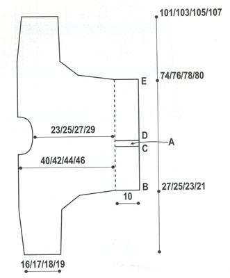 Вязание кольчуга схема спицами 82