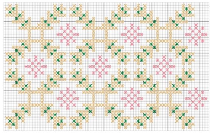 Рождественская красная подушка с вышивкой. Схема (2) (700x441, 277Kb)