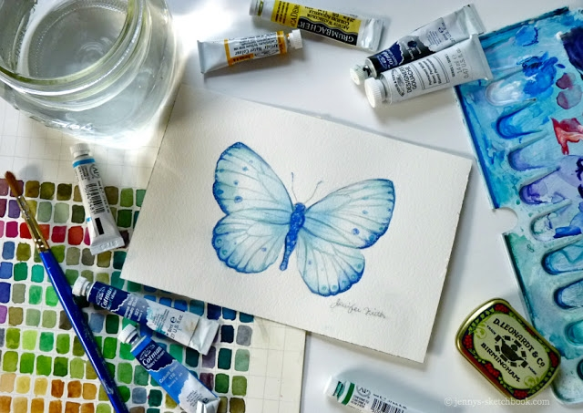 jennys-sketchbook-0713-watercolor-butterfly-painting (640x453, 226Kb)