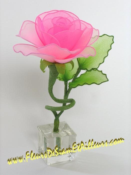 Розы из капрона своими руками мастер класс фото 60