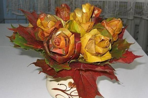 Как создать оригинальные осенние поделки: розы из листьев, фоторамки и многое другое/2565092_rozoslist_1_ (600x400, 42Kb)