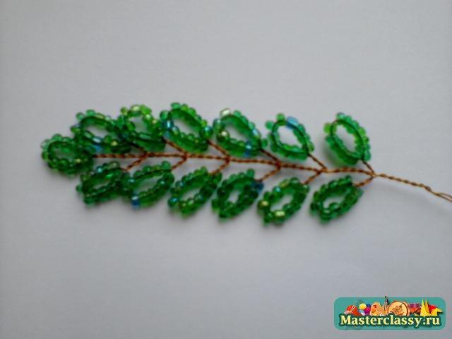 Видео плетения из бисера березу