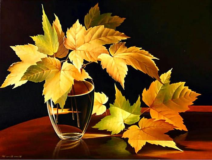 осенний букет фото из листьев