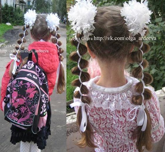 Красивые прически на 1 сентября для девочек 1 класс