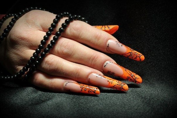 Ногти нарощенные фото 2013 2014 осень зима