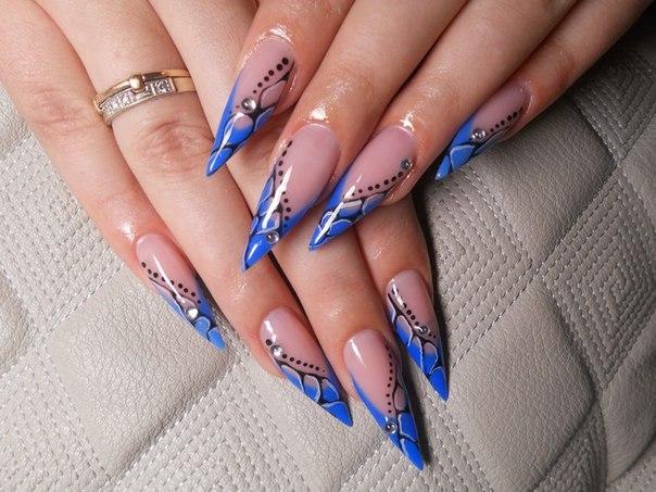 Модный нарощенные ногти фото