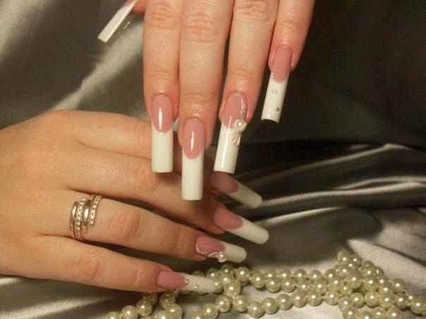 Зимние ногти дизайн френч