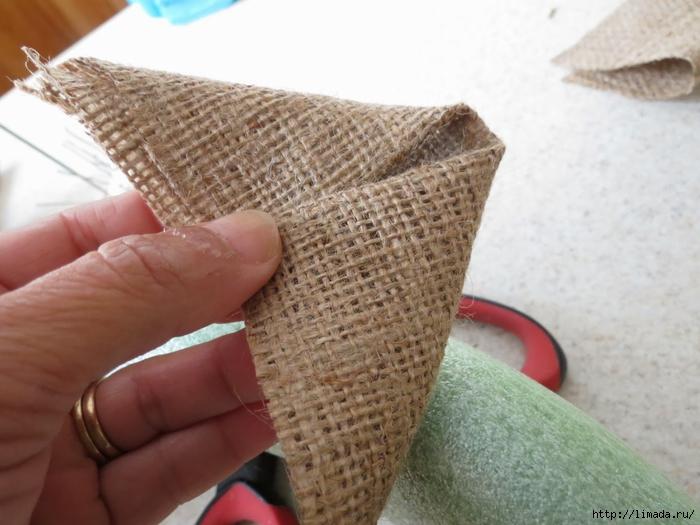 Каллы из мешковины своими руками мастер класс 57