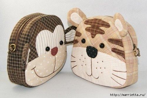 Шьем сумочку для ребенка. Тигр и обезьянка (1) (500x335, 95Kb)