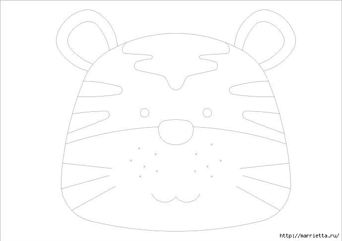 Шьем сумочку для ребенка. Тигр и обезьянка (3) (690x487, 45Kb)