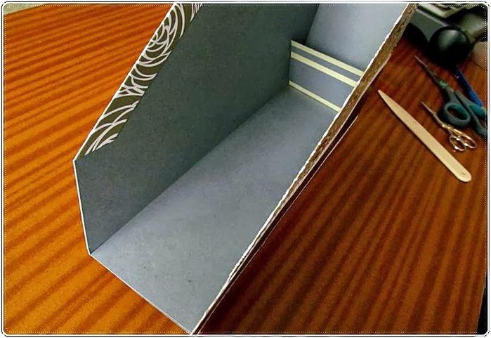 подставка для бумаг из картона своими руками, мастер класс