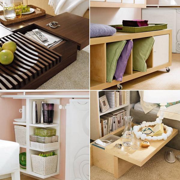 Умная мебель для маленьких квартир: 3 комнаты с практичной и легкой обстановкой