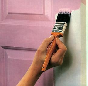 Покраска межкомнатных дверей!