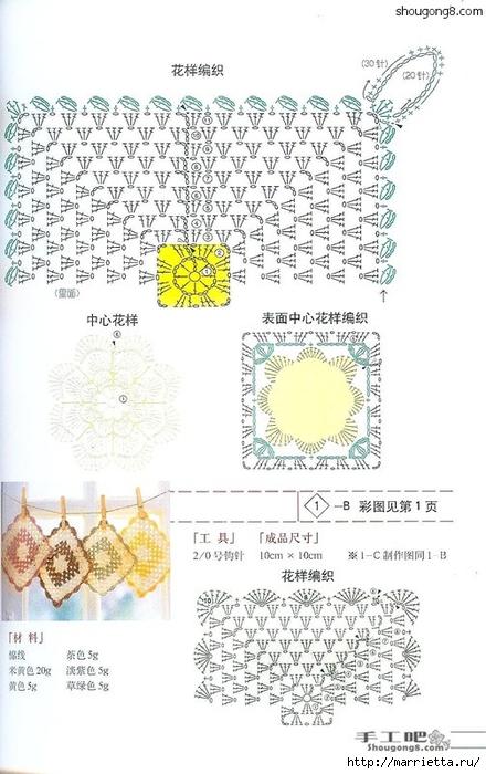 Вязание крючком. Прихватки, салфетки и другие приятные мелочи (23) (440x700, 214Kb)